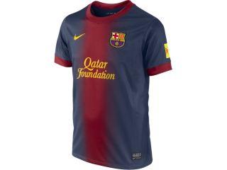 RBARC68J Barcelona Home Shirt Nike Boys Jersey 12 13 Kids Kit