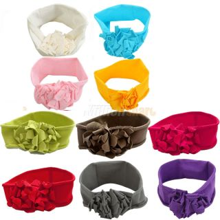 10 Colorful Baby Boy Girl Lovely Flower Hair Bands Headband Hoop Clip