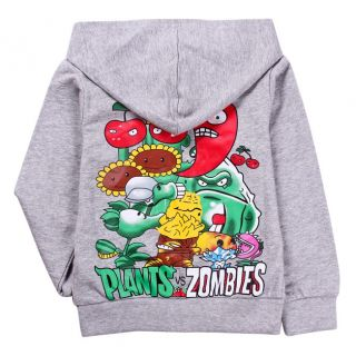 New Baby Boys Girls Plants vs. Zombies Zipper Hoodies Sweatshirts 7 8