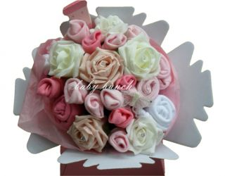 Baby Clothes Bouquet Large Handmade Pink Girl Baby Shower Maternity