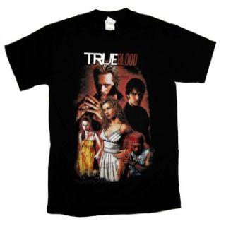 True Blood Vampire Cartoon Cast TV Show T Shirt Tee
