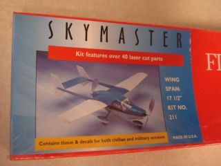 Dumas Skymaster Balsa Wood Flying Model Airplane Kit Factory SEALED