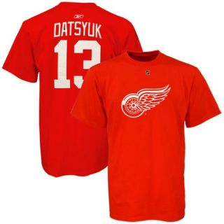 Detroit Red Wings Reebok Pavel Datsyuk Jersey T Shirt sz XL