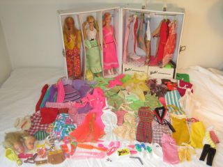 BARBIE DOLL BIG MIXED LOT MOD ERA DOLLS/CARRY CASE/CLOTHING