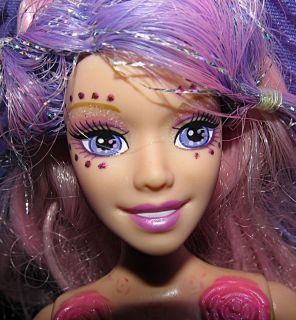 Barbie Doll Fairytopia Mermaidia Shella Pink Purple Hair Aqua Green