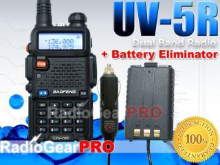 BAOFENG UV 5R Dual Band Radio UHF/VHF 136 174 / 400 480 + Car Battery