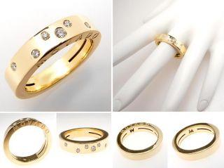 movado vs diamond band ring solid 18k gold sku ele629