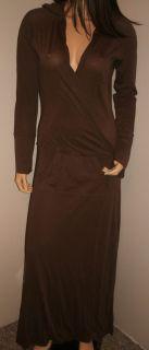 BAREFOOT DREAMS Pima Cotton Long Hooded Pocket Dress Lounger Medium M