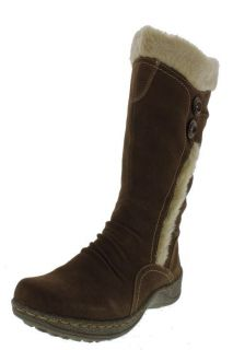 Bare Traps New Elister Brown Suede Faux Fur Lined Mid Calf Boots Shoes