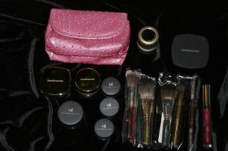 NIB Bare Minerals makeup lipgloss eyeshadow blush brushes Huge Lot