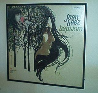 JOAN BAEZ Baptism Framed vinyl Record Album