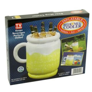 Inflatable Beer Mug Cooler Ice Chest Cold Drinks Soda Water BBQ Beach