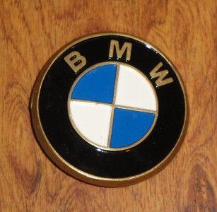 Vtg BMW 1980 Baron Buckles Solid Brass Mens Belt Buckle