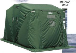 69446 Green Replacement Canvas Only Outpost Ice Shelter Green Skin