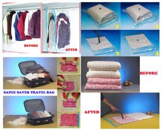 Pcs Space Saver Saving Vacuum Seal Storage Bags w Hanging Bags