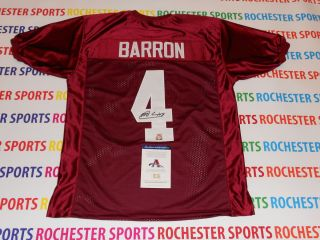 MARK BARRON autographed signed Alabama Crimson Tide Jersey AAA