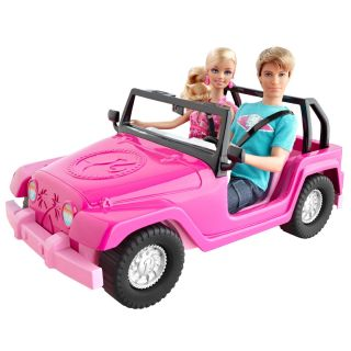 Barbie Doll Barbie and Ken My Cool Mini Cooper Red Convertible Car New