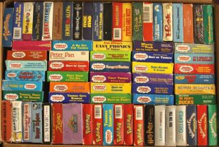 VHS Huge Lot of 72 Kids & Childrens Movie Video Tapes Thomas The Tank