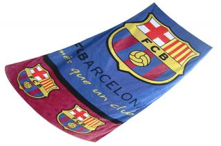 BARCELONA Football Club BEACH BATH POOL Towel 100% COTTON 75 X 150 CM