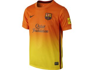 RBARC69J Barcelona Away Shirt Nike Boys Jersey 12 13 Kids Kit