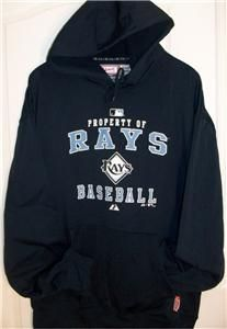 Tampa Bay Rays MLB Majestic Hoodie Therma Base 2XL New