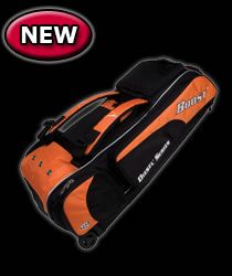 Diamond Diesel IX3 Boost Baseball Bat Bag w Wheels Vegas Gold