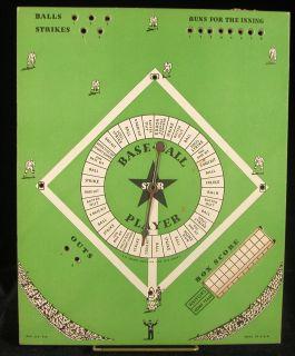 Vintage Spinner Baseball Board Game Star Baseball Player