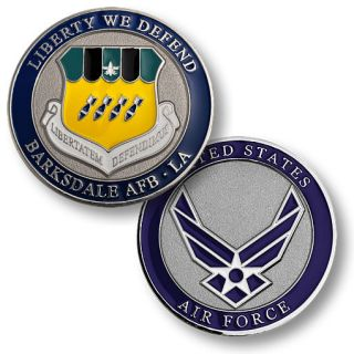 Barksdale Air Force Base Liberty Defend Challenge Coin