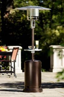41,000 Outdoor Patio Heater and Table With Protective Burner Cover