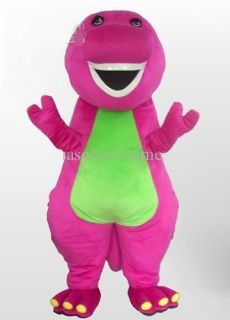 Purple Barney Mascot Costume Character Party Fancy Dress Adult Size