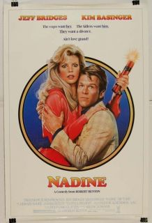 Nadeen 1987 Jeff Bridges Kim Basinger Movie Poster