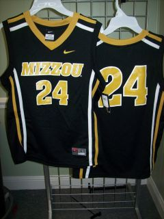 Tigers Mizzou Nike 24 Black Basketball Jersey Sz Youth Medium
