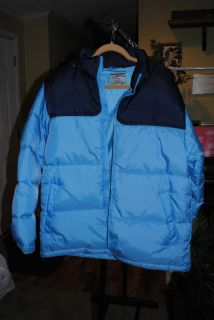 Steve and Barrys Double Down Light Blue w Dark Blue Trim Feather Down