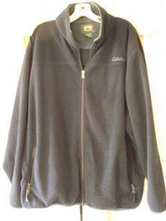 Mens Cabelas XL Black Fleece Zip Up Jacket Very Warm