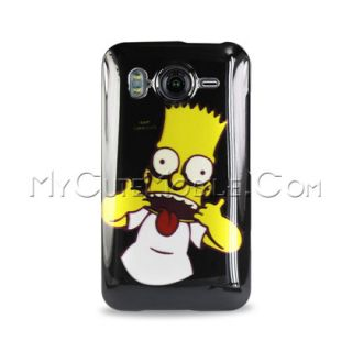 HTC Inspire 4G/ Desire HD Case   Bart Simpson Faceplate Cover (AT&T)