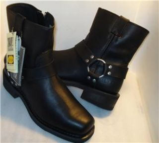 BATES mens HARNESS Boots Black side zipper (Riding Boot) US sz 7