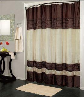 Luxury Fabric Shower Curtain Bathroom Accessories 70 x 72 Ibiza