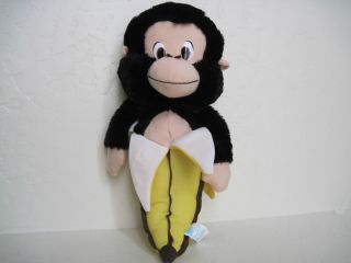 12 Classic Toy Co Banana Monkey Plush Stuffed Animal