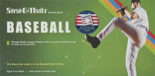Strat O Matic National Baseball Hall of Fame Game