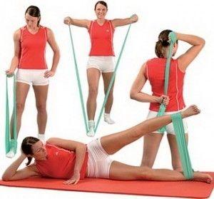 Pilates Resistance Exercise Band Tubing Cord x Light Fitness Tube Yoga
