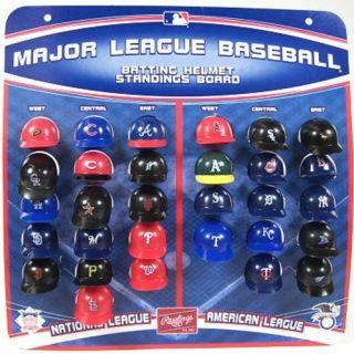 MLB Micro Pack Batting Helmet Standings Display Board