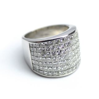 Ladies Diamond Invisible Band Ring 7 30 Ct Princess Cut 18K Gold 20