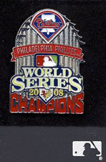 Philadelphia Phillies Baseball World Series 2008 Pin