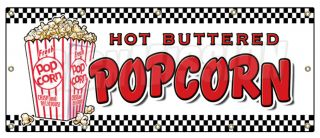 48x120 Popcorn Banner Sign Stand Cart Concession Signs