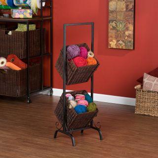 Tier Basket Standing Storage Unit Floor Organizer Kitchen Craft Bath