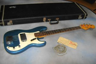 1966 Fender Precision Bass Lake Placid Blue CLEAN 1 OWNER BASS