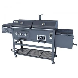 Combination BBQ GRILL (Smoker, Propane gas, and Charcoal Grill)