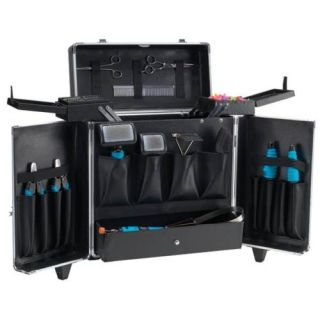 Pet Groomer Hair Stylist Handler Barber Aluminum Mobile Tool Case Cart