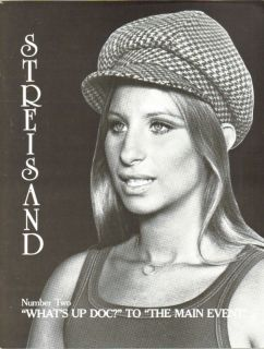 Barbra Streisand Whats Up Doto Main Event Magazine 1983