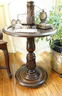 Antique English Barley Twist Table Game Kitchen Dining